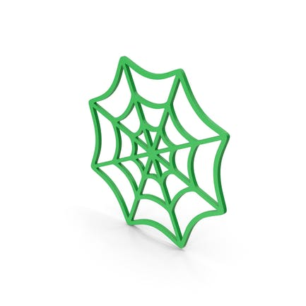 Symbol Spider Web Green