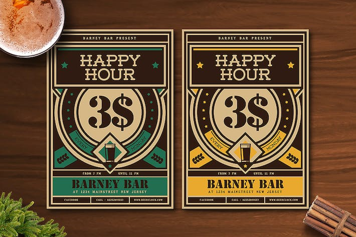 Thumbnail for Vintage Happy Hour Beer Promotion