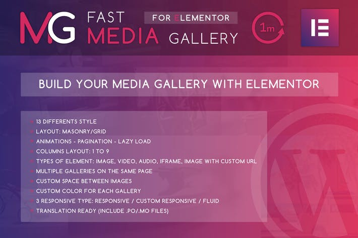Thumbnail for Fast Media Gallery For Elementor WordPress Plugin