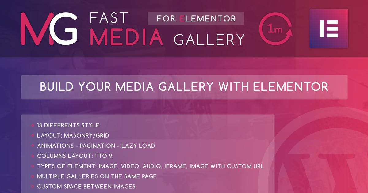 Download Fast Media Gallery For Elementor WordPress Plugin by ad-theme