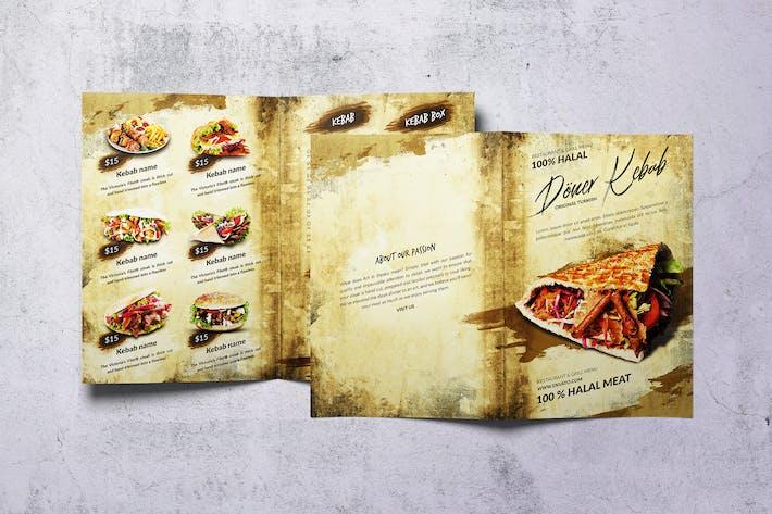 Doner Kebab Bifold A4 & US Letter Food Menu