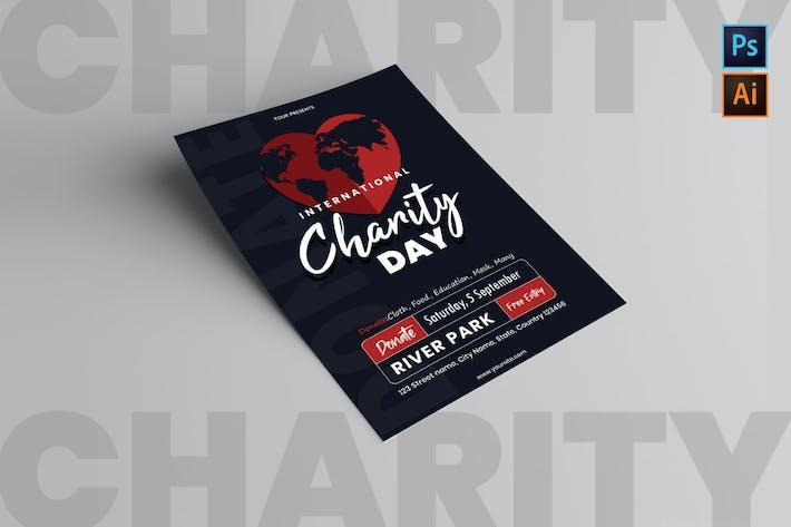 Thumbnail for Plantilla del Folleto del Día Internacional de la Caridad
