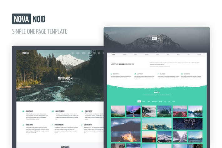 Thumbnail for Novanoid — Simple Minimal HTML Template