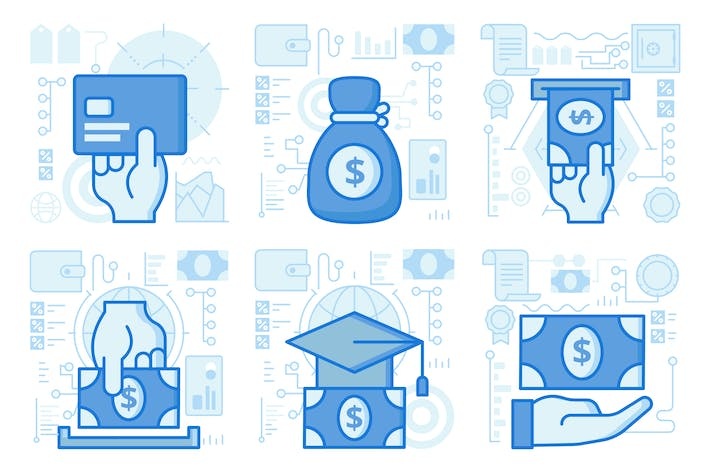 Thumbnail for Education Loans and Payment UI UX Illustrations