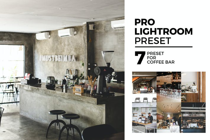 7 Lightroom предустановки для кофе-бара