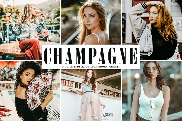 Thumbnail for Champagne Mobile & Desktop Lightroom Presets