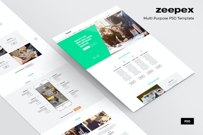 Thumbnail for Zeepex – Portfolio PSD Website Template