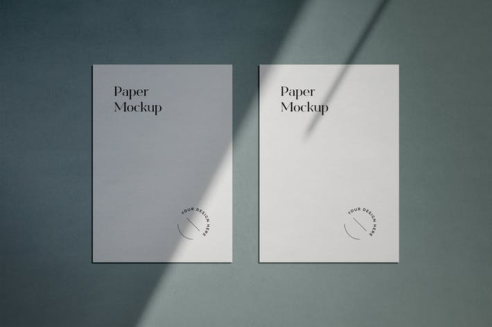 A4 Paper Mockup with Shadow Overlay