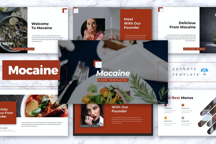 Thumbnail for MOCAINE - Restaurant & Food Keynote Template