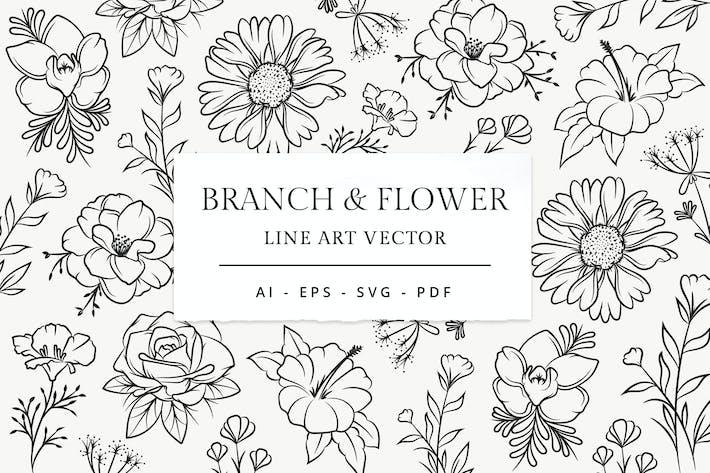 Thumbnail for Branch & Blume Linie Kunst Illustration