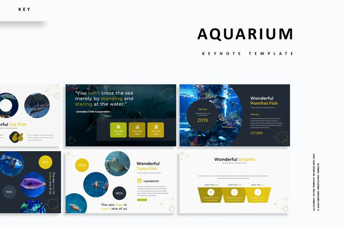 Cover Image For Aquarium - Keynote Template