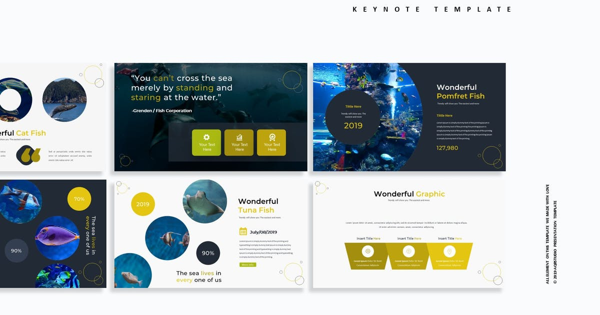Download Aquarium - Keynote Template by aqrstudio