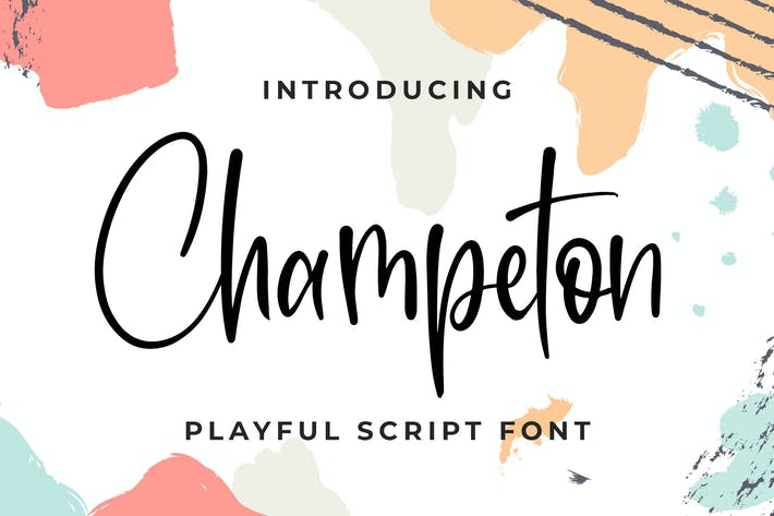 Thumbnail for Champeton - Playful Script Font