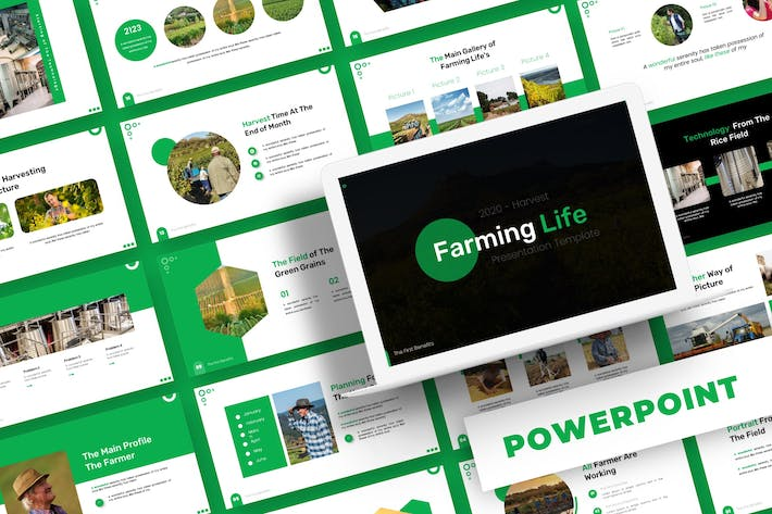 Thumbnail for Farming Life - Powerpoint Template