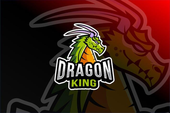 Dragon King Esport Logo Template