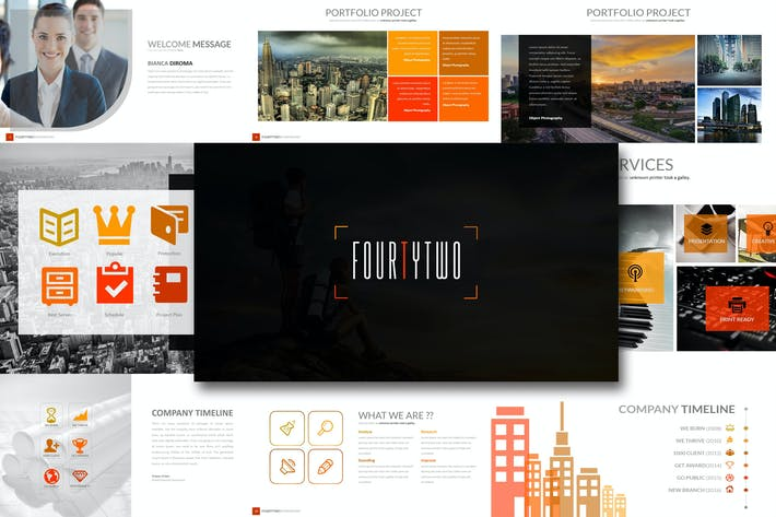 Thumbnail for Fourty 2 - Powerpoint Template