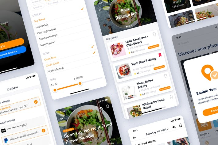 Thumbnail for Food Restaurant App Kit