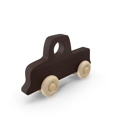 Baby Wooden Car Dark Brown
