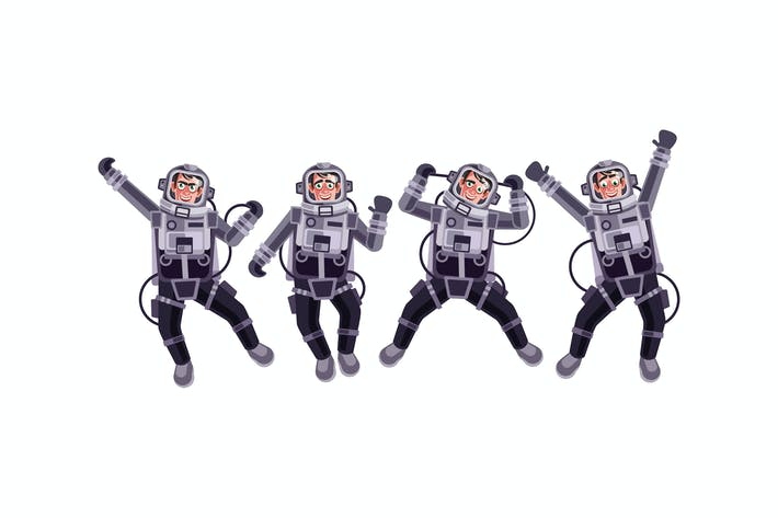 Thumbnail for Astronaut Character Set Graphics Vector