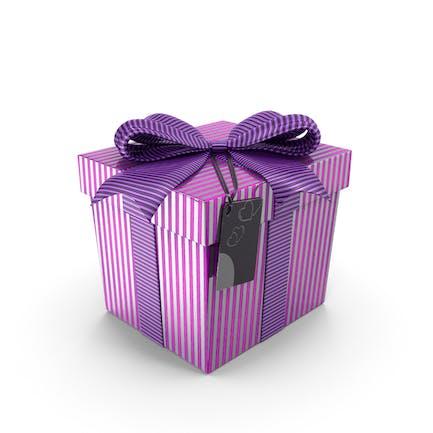 Violette Geschenkbox mit Anhänger