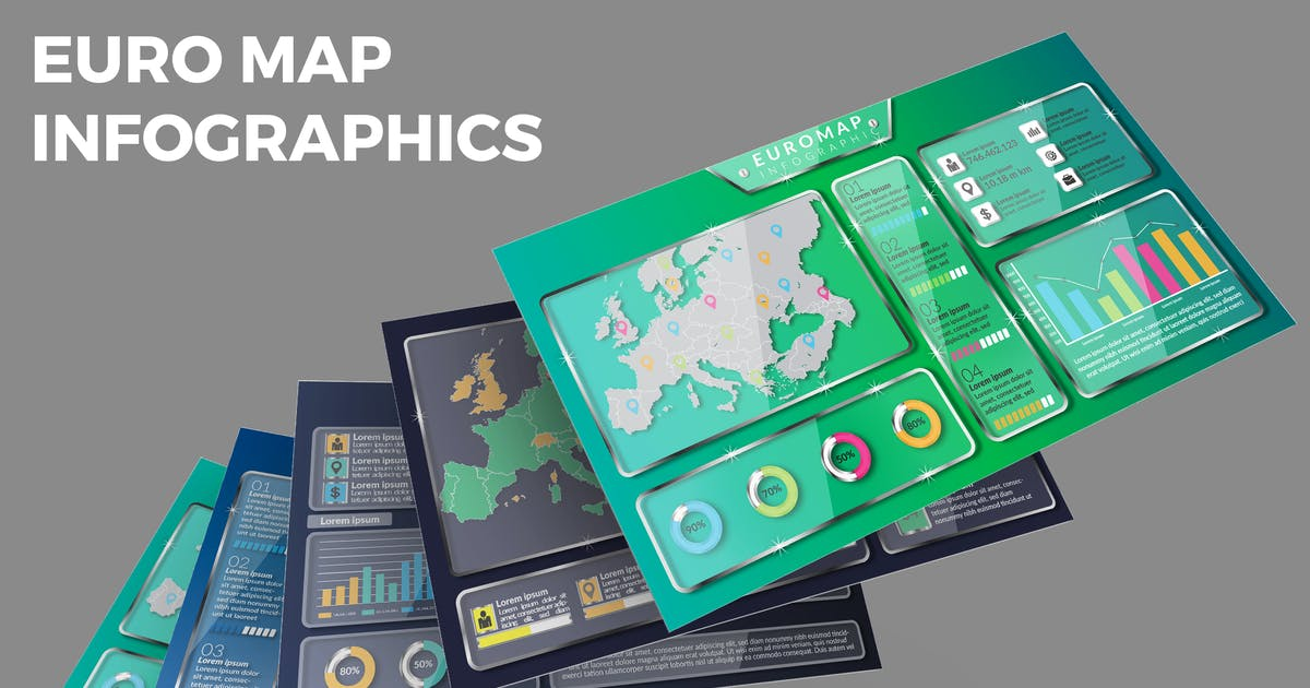 Download Euro Map – Infographics Design by designesto