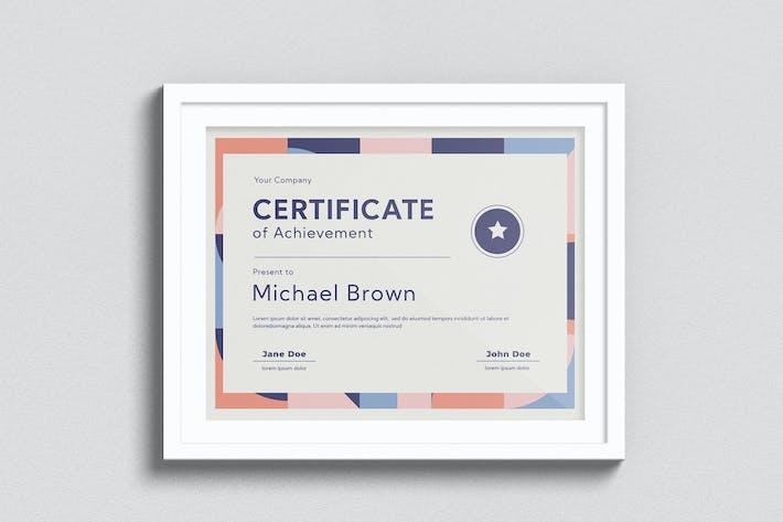 Geometric Certificate
