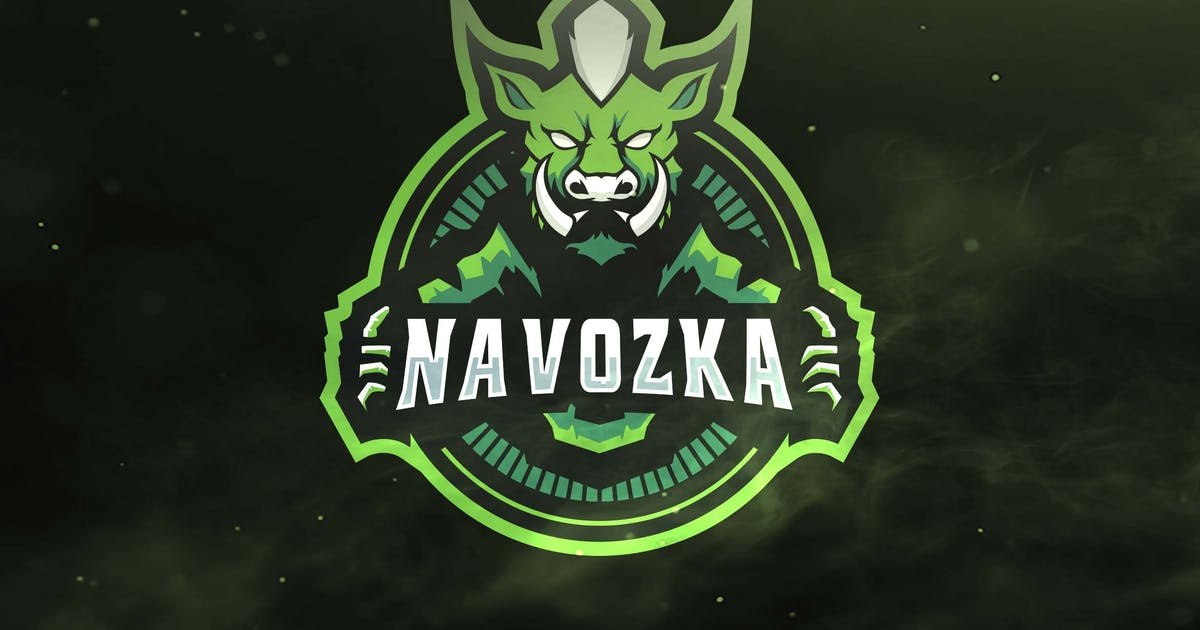 Pig Green Sport and Esports Logos by ovozdigital