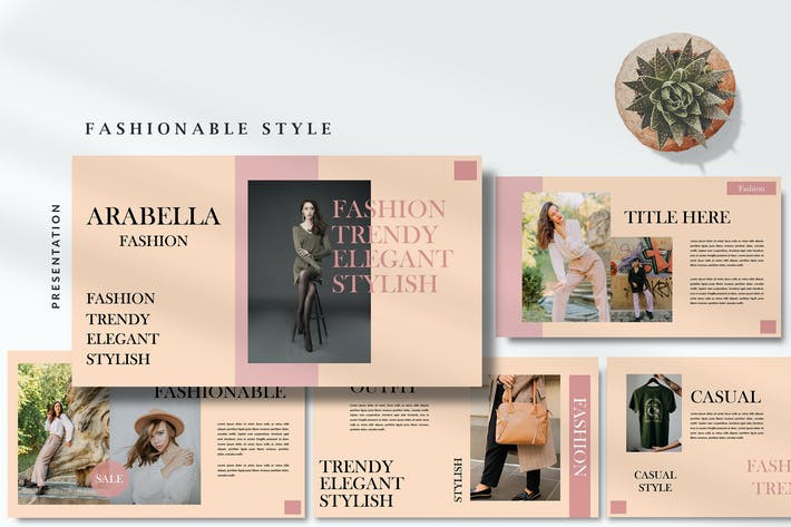 Arabella Magazine Style - Fashion Powerpoint