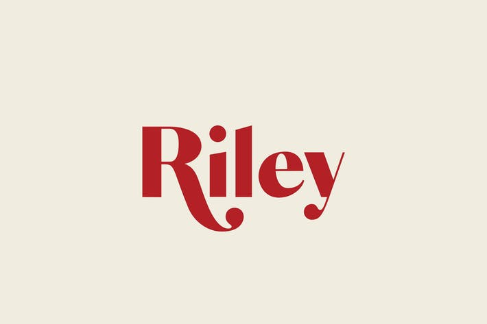 Thumbnail for Riley - A Modern Typeface