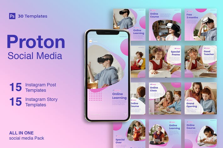 Proton - 30 Instagram Post & Story Template