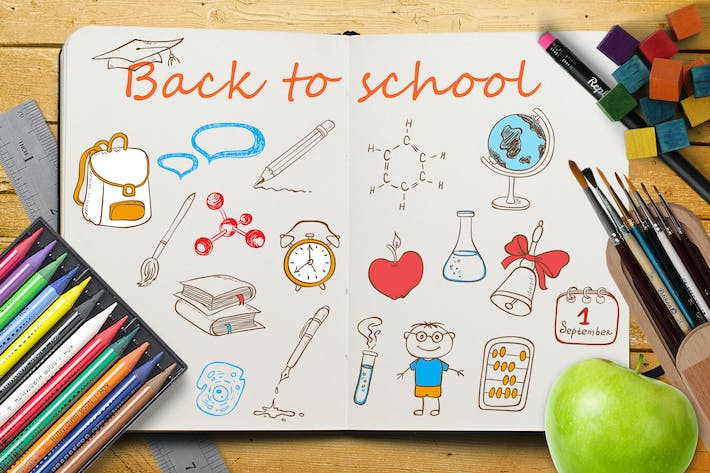Thumbnail for Back to School, Doodle Design Kit