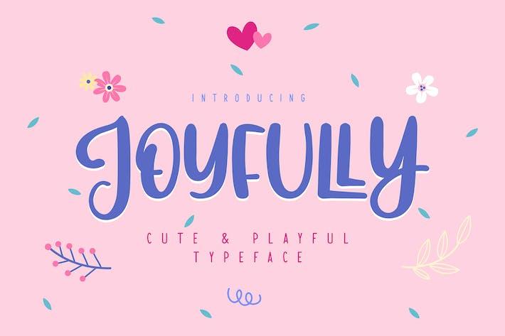 Thumbnail for Joyfully | Police de caractères mignonne et ludique