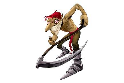 Irish Evil Goblin Called Red Cap