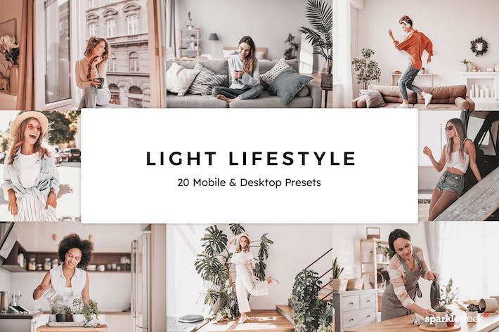 Thumbnail for 20 Light Lifestyle Lightroom Presets & LUTs
