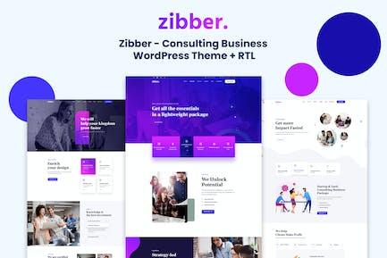 Zibber - Consulting Business WordPress Theme + RTL