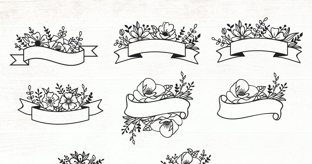 Download Floral Ribbon Banner Design Elements by Muse-Master