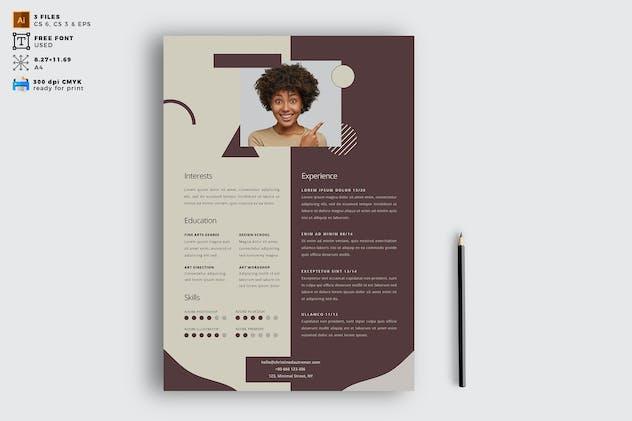 Elegant CV Resume Vol. 04 - product preview 0