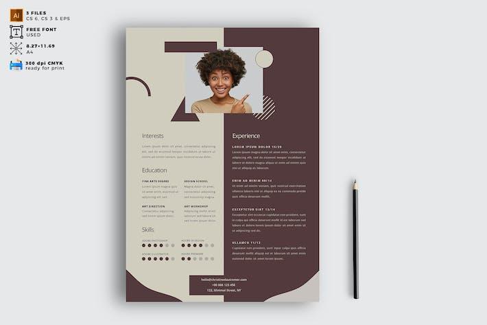 Elegant CV Resume Vol. 04