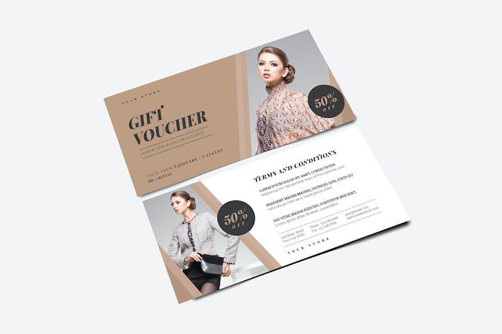 Thumbnail for chèque-cadeau simple de mode