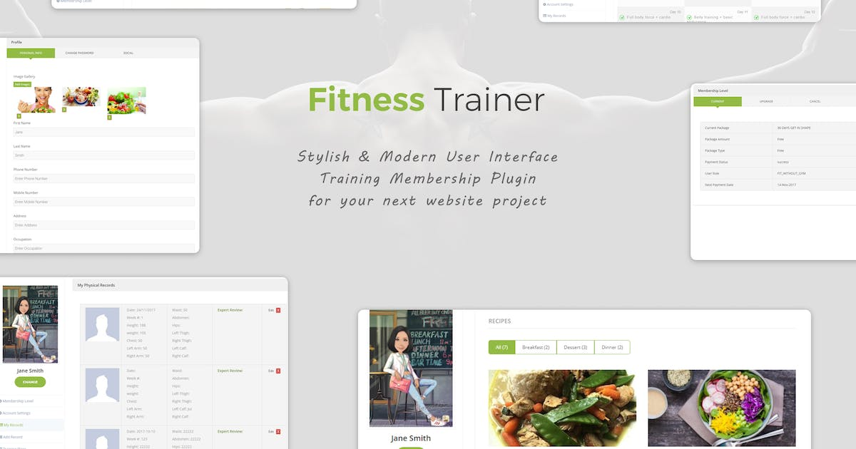 Download Fitness Trainer- Training Membership Plugin by e-plugins