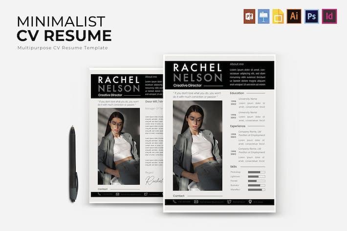 Thumbnail for Minimalist   CV & Resume Template