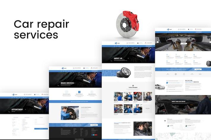 Thumbnail for Reparación de autos - Auto Services PSD Plantilla
