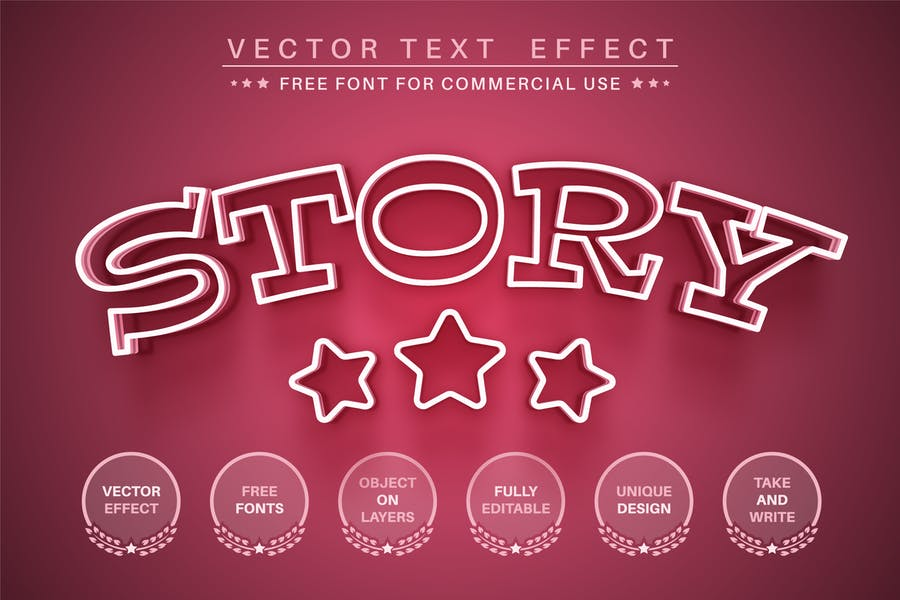 Pink Story - Editable Text Effect, Font Style