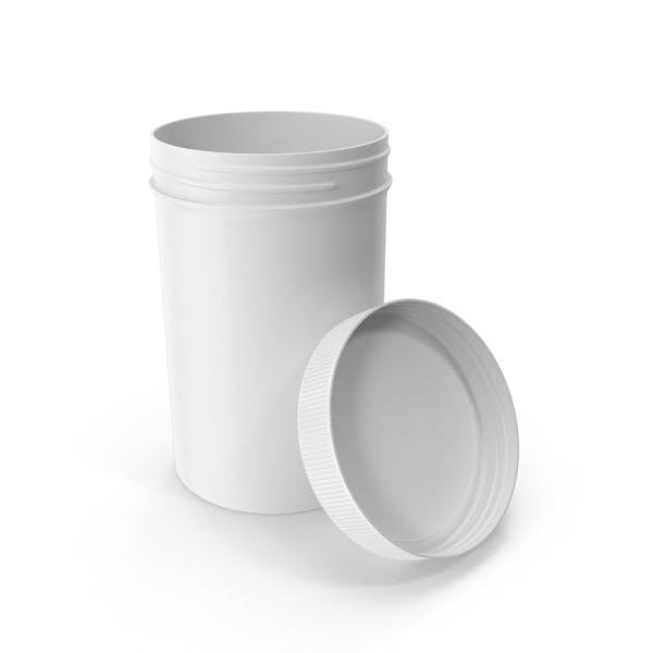 Tarro de plástico de boca ancha de 25oz