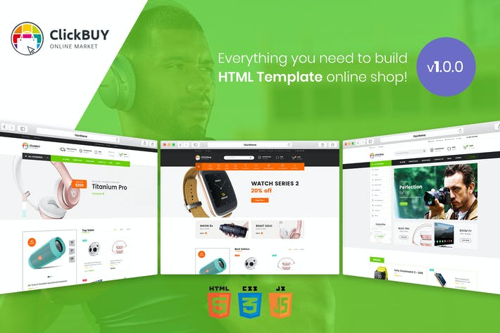 Cover Image For ClickBuy | Multi Store Responsive HTML Template