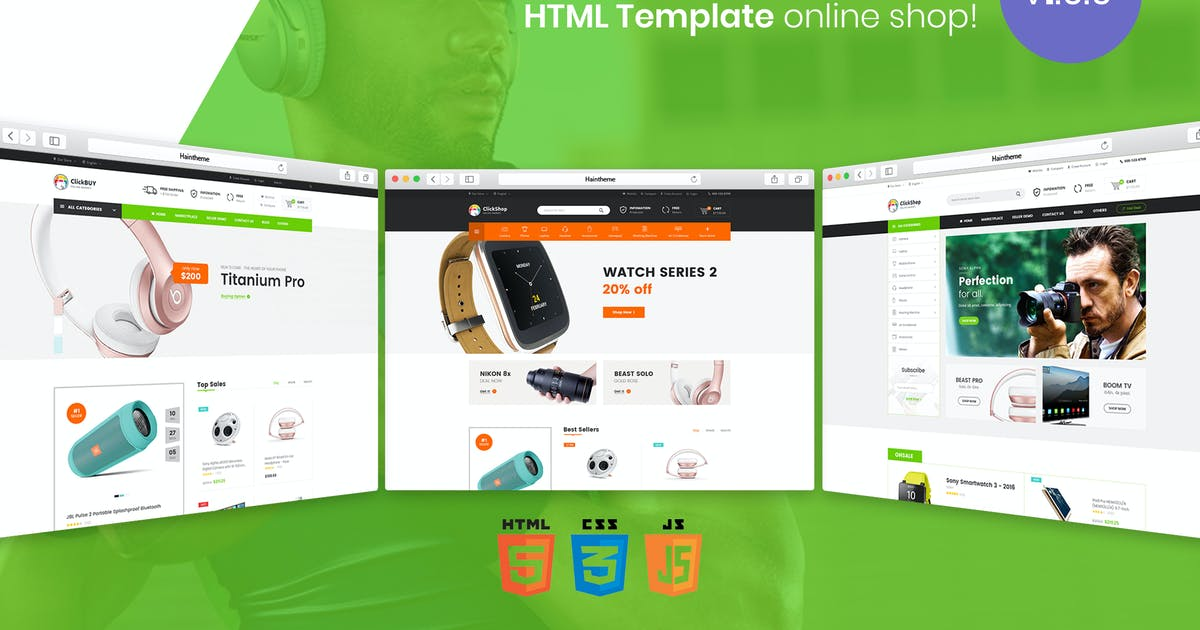 Download ClickBuy   Multi Store Responsive HTML Template by EngoTheme