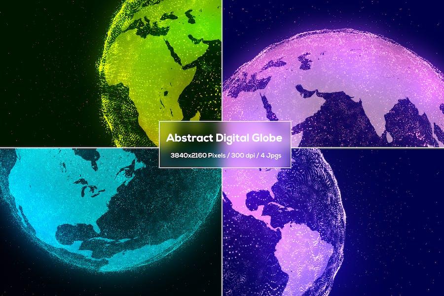 Abstrakter digitaler Globus