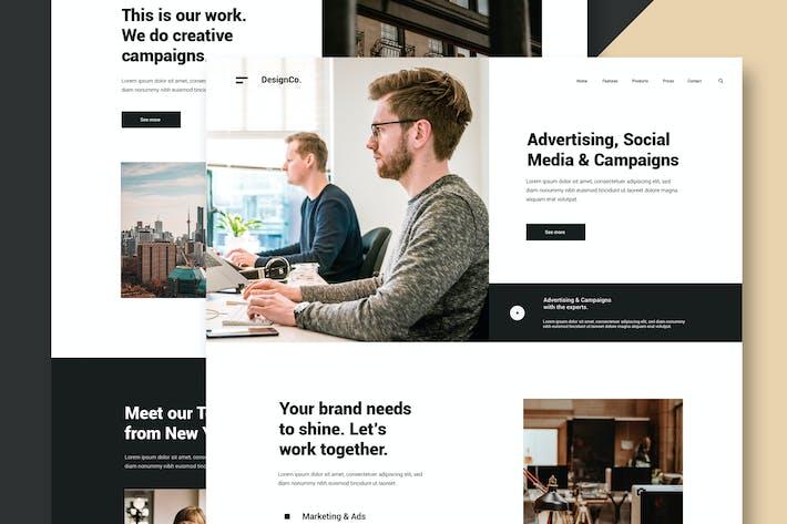 Thumbnail for Marketing & Design Agency - Website