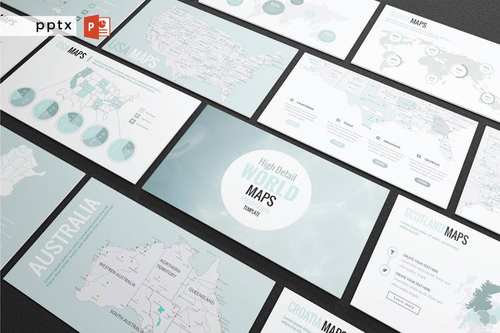 Cover Image For DETAIL MAPS - Multipurpose Powerpoint  V222