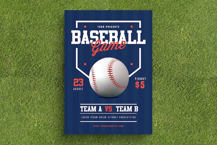 Cover Image For Baseball Flyer